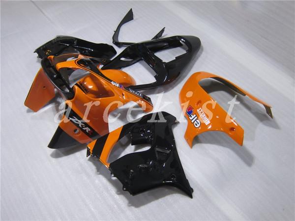 Free windshield New ABS fairings kit for Ninja Kawasaki ZX9R 2002 2003 900cc fairing motorcycle parts ZX-9R ZX 9R 02 03 Custom black orange