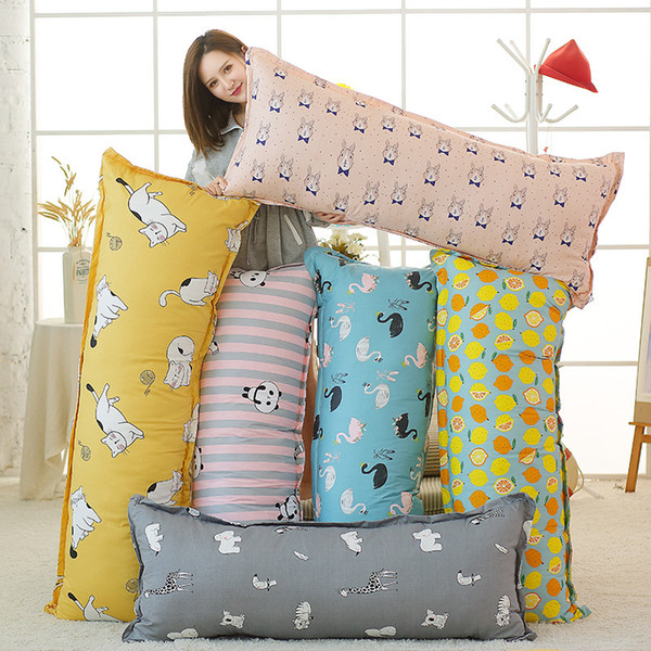 Big Plush Long Pillow Soft Pregnant Woman Pillow Animal Stuffed Back Support Cushion Sleeping Relaxing Body Dolls for Girl Gift
