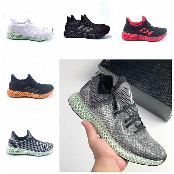 2019 Futurecraft Erkekler Kadınlar Için 4D Koşucu Koşu Ayakkabıları Kül Yeşil Üçlü Siyah Beyaz Kırmızı Erkekler Tasarımcı Trainer Spor Sneaker Boyutu 38-46