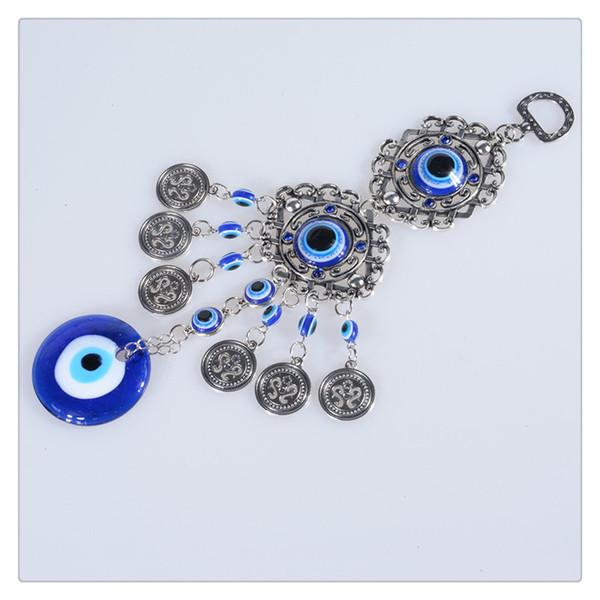 Blue Evil Eye Amuleto Protección Turco Colgante de Pared Decoración Del Hogar Bendición Regalo Lucky Colgante Creativo Al Por Mayor