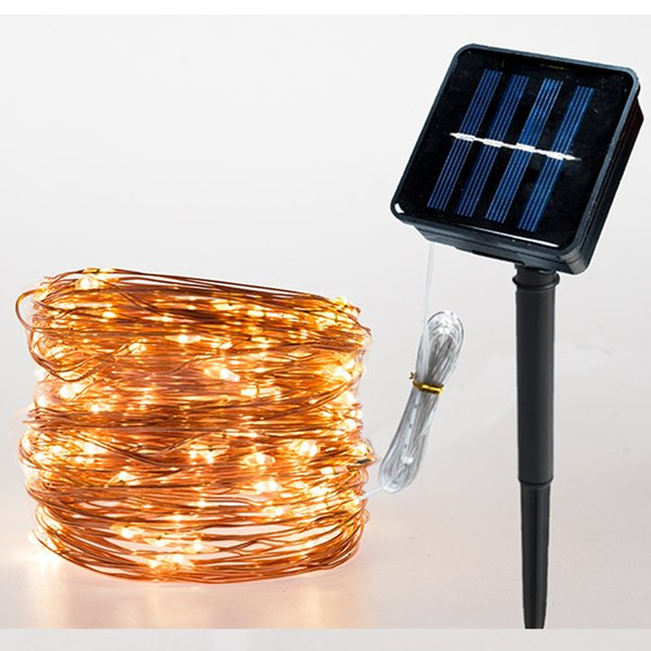 8modes 10m 20m Led String Light Solar Powered Upgrade Copper Wire Waterproof for Christmas Wedding Party Outdoor Garland Decoration
