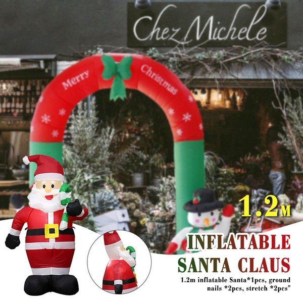 Christmas Inflatables.120cm 2019 Christmas Inflatable Statue Supper Market Inflatables Santa Claus Cute Toy New Year Christmas Stuff For Sale Christmas Stuff On Sale From