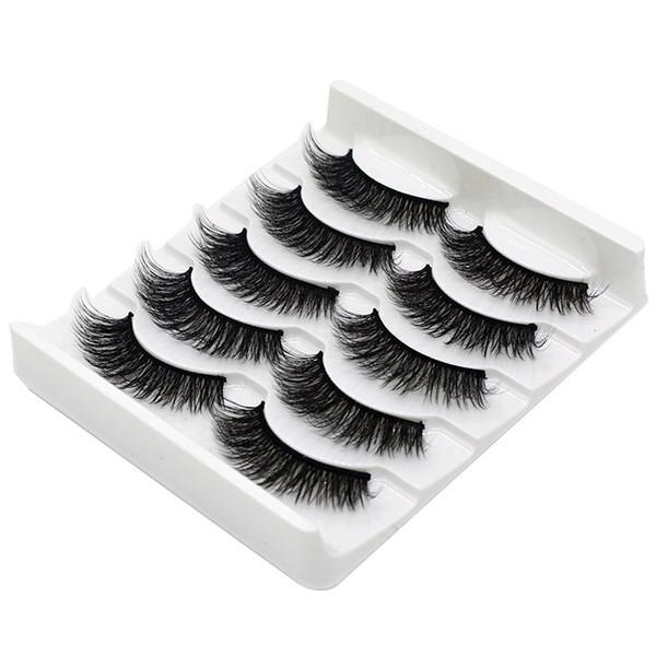 5 Pairs 3D Magnetic natural thick False eyelash mink False eyelashes set hand vaporous fluffy soft Natural Eye Makeup Extension