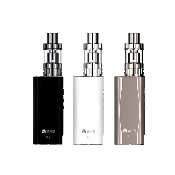 Electronic Cigarette Vaptio P1 Kit With Top Filling Tank 50W Vaporizer 2100mAh Built In Battery Coils 0.25ohm Doul Core