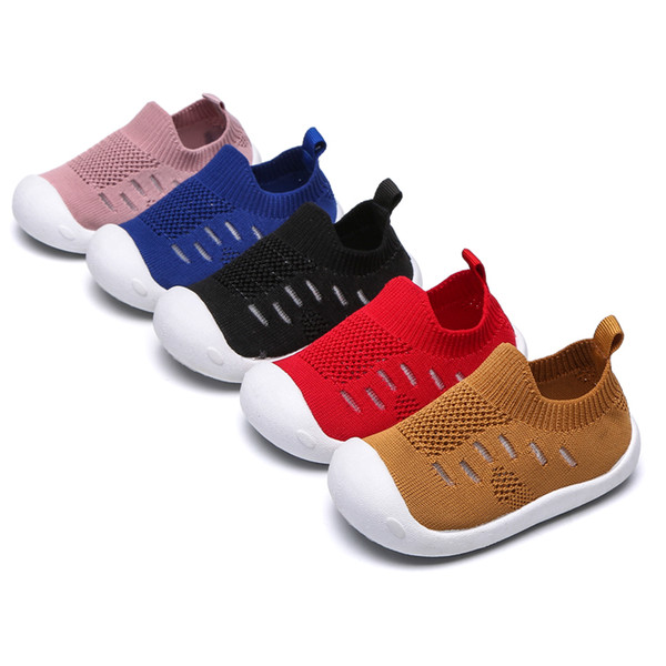 2019 spring new baby toddler kid soft bottom Newborn knit shoes boys and girls indoor shoes B11
