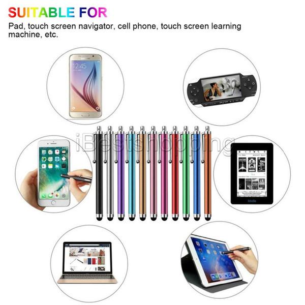 Metal Tablet Kalem Stylus Kalem Kapasitif Dokunmatik Ekran Için Evrensel Cep Telefonu Tablet iPod iPad cep telefonu