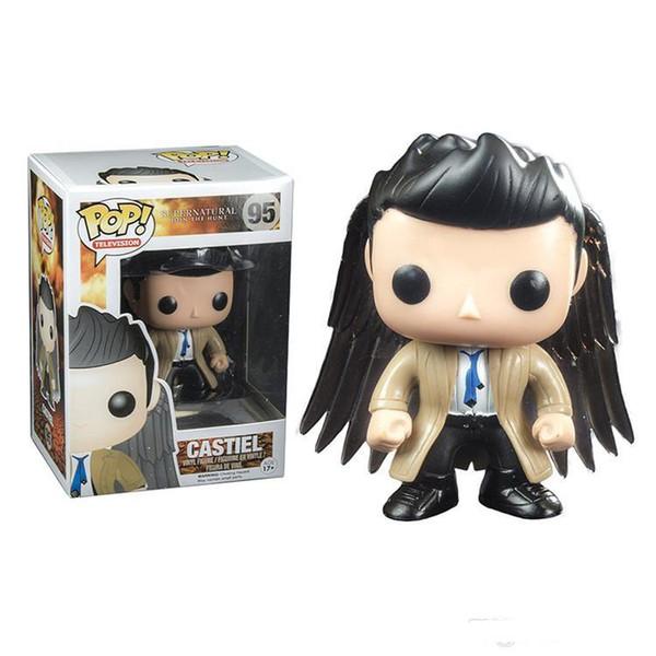 Funko Pop! Supernatural Castiel avec ailes Exclusif Figurine Vinyle avec Boîte # 186 Cadeau de Jouet Populaire