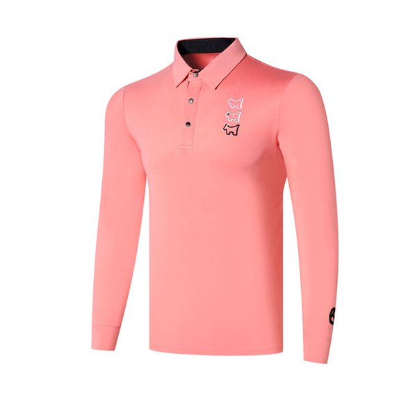 top popular New Men Dust_Proof Golf Shirt Latest Spring summer Tit Golf sports shirt Full Sleeves Anti-Pilling Short Golf T-Shirt Free shipping 2019