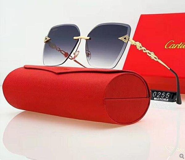 Uomo Donna Designers occhiali da sole di lusso occhiali da sole di vetro Designers adumbral occhiali UV400 Girl 5200 6 colori facoltativa di alta qualità con la scatola