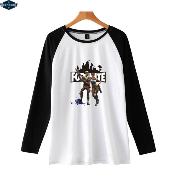 Fortnite T-shirts For Women/Men Fashion Pop Game T Shirt Fortnite Long Sleeve Printed Casual Style Tee Shirt Plus Size 4XL