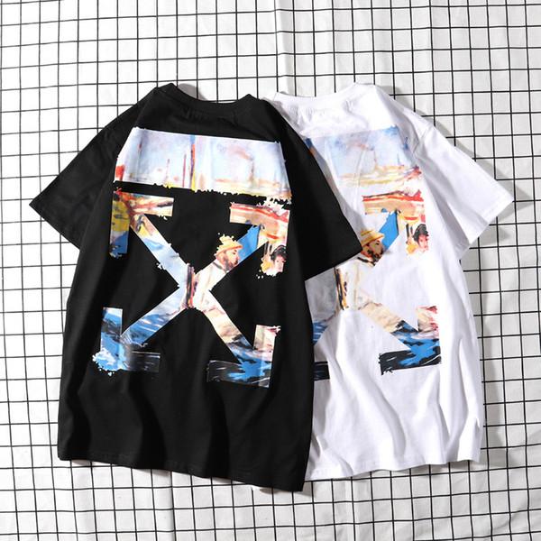 Ölgemälde T T-Shirt Kurzarm Porträt Kurzarm Liebhaber Grundlagen Pfeil 1988 T-shirts Schwarz Und
