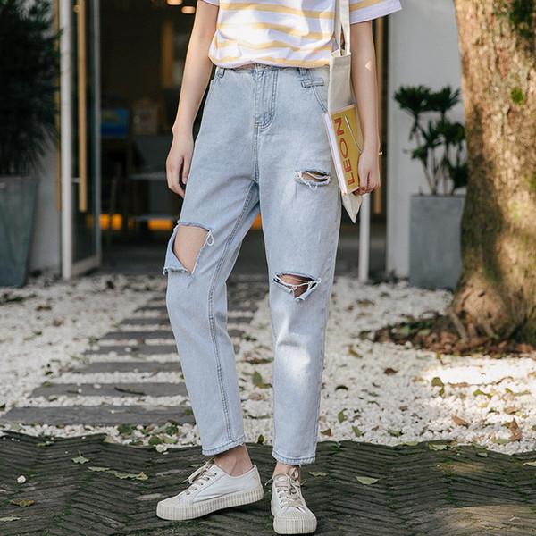 Stretch Jeans Femme 2019 Nouveau plus Größe schnüren Jeans Frauen Denim NP2056-NP2061 Patch Harlan Manschette Bleistift Frauen