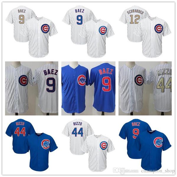 Chicago Herren-Baseball-Trikot Cubs 9 Javier Baez 44 Anthony Rizzo 17 Kris Bryant Cooles Base-Jersey von höchster Qualität