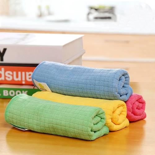 Cleaning Cloth Microfiber Dish Towel Bamboo Fiber Drying Detailing Do Not Dip Oil Washing Cloth Absorb Water Kitchen Housework Towel 32*40CM