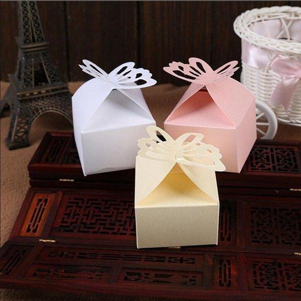 Großhandel Weiße Rosa Gelbe Farbe Falten Papier Schmetterling Geschenk Candy Box Für Romantische Verlobungsfeier Hochzeit Liefert Von Partylife