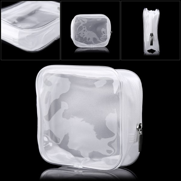 Women PVC Clear Makeup Cosmetic Bag Waterproof New Make Up Bags Portable Toiletry Pouch Transparent White 2018 Zip Bags