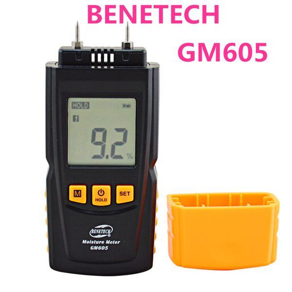 Toptan GM605 Dijital LCD Ekran Ağaç Nem Ölçer Nem Test Cihazı Kereste Nemli Dedektör taşınabilir ahşap nem ölçer
