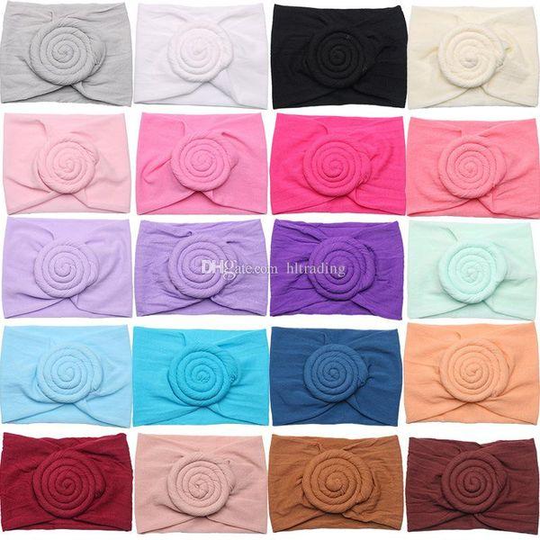 Baby Girls Knot Ball Headbands nylon Turban Infant Elastic Hairbands Children Knot Flower Headwear designer kids Hair Accessories C6870