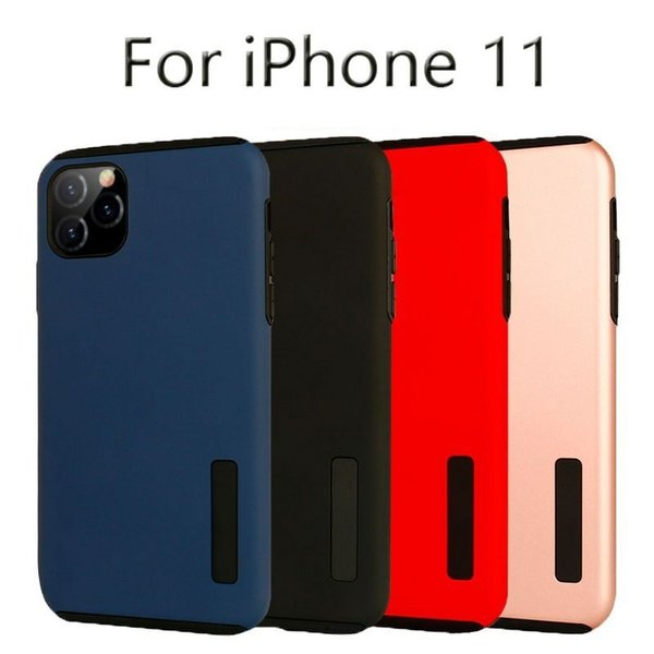 Dual layer 2 in 1 matte phone protective ca e cover for iphone 11 pro max 5 8 6 1 6 5 hockproof hell