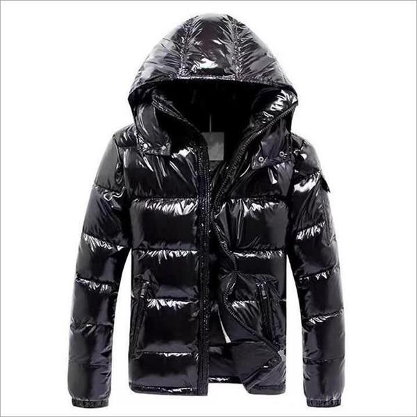 Men Women Classic brand Casual Down Jacket Shiny matte Down Coats Mens Outdoor Fur Collar Warm Feather dress Unisex Winter warm Coat M007