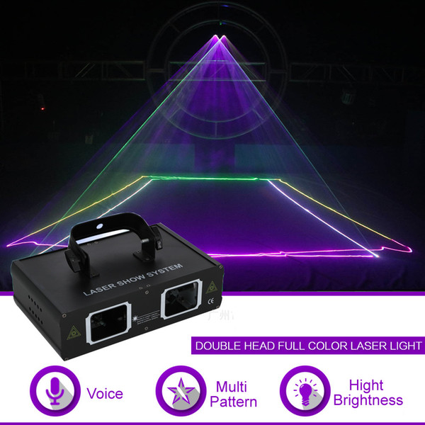 Double Lens RGB Full Color DMX Beam Network Laser Projector Light DJ Show Party Gig Home KTV Stage Lighting Effect 506RGB