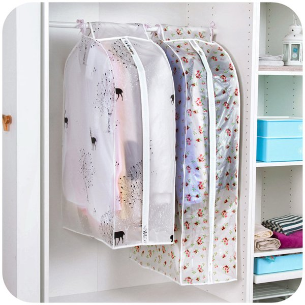 Organization Storage Bag dust bags Cover Clothes Protector Case for Overcoat Suits Garment Hanging his pocket Organizador 64036