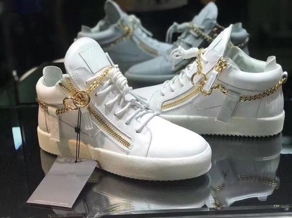 Nuevo 2019 para mujer para mujer de cuero de patente con remiendo de pana, zapatillas de deporte con cremallera doble superior, zapatos casuales de marca 35-46Despago de envío M11