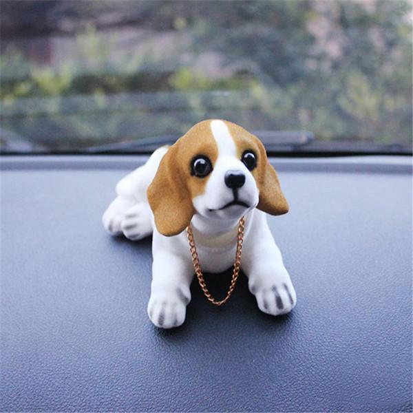 Araba Süs Sallayan Köpek Başını Sallayarak Köpek Sallar Köpek Araba Styling Için Sevimli Bobblehead Bebek Iç Dekorasyon