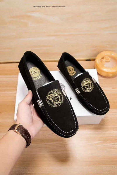 Men's Shoes Brand Genuine Casual Driving Oxfords Flats Mens Loafers Moccasins Italian