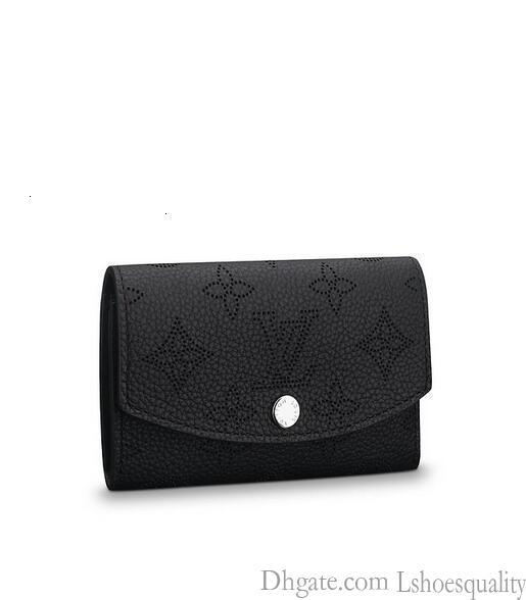 64049 M anae Münze Frauen Echtes Leder lange Mappen-Kette Wallets Compact Purse Kupplungen Abendschlüsselkartenhalter
