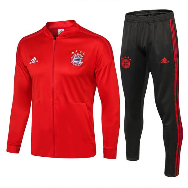 Großhandel H1 FC BAYERN Ballspielanzug 1819 Mit Niedrigem Kragen Bayern Ballanzug Roter Temperament Atmungsaktiver, Elastischer Komfort Von