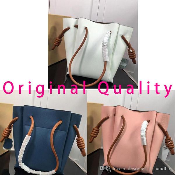 Haute qualité designer luxe sac à main 2019 nouvelles femmes sac fourre-tout marque cordon mode sac en cuir véritable