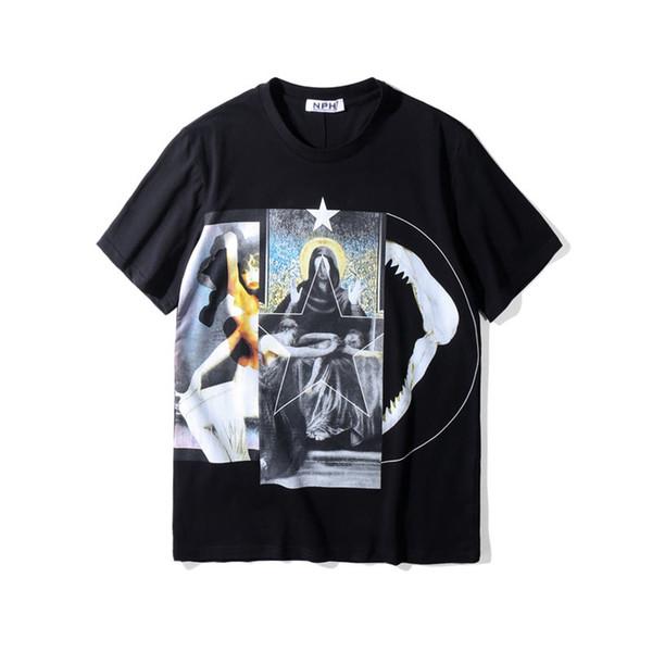 Diseñador de lujo camiseta Virgen camiseta impresa manga corta polo Hombres Mujeres camiseta del verano camisetas ocasionales del tamaño S-XXL