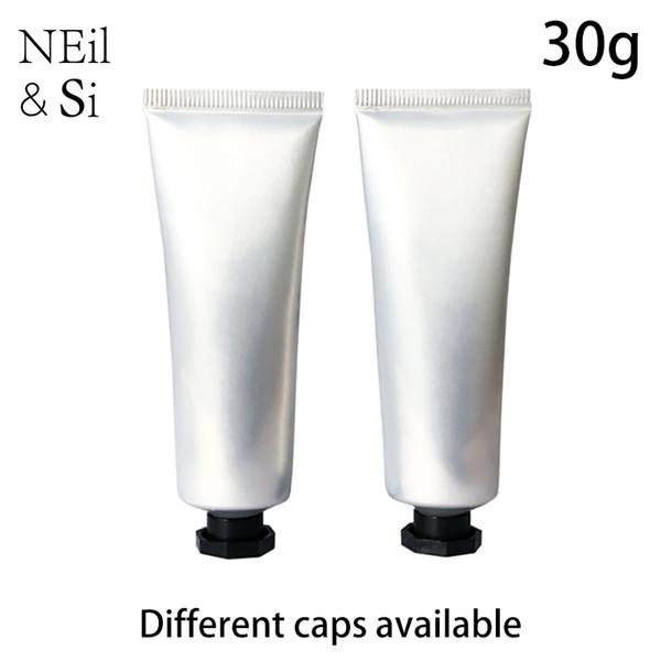 Gümüş 30ml Plastik El Kremi Bottle 30g Kozmetik Dudak blam Yumuşak Tüp Göz Kremi Squeeze Şişeler Ücretsiz Kargo
