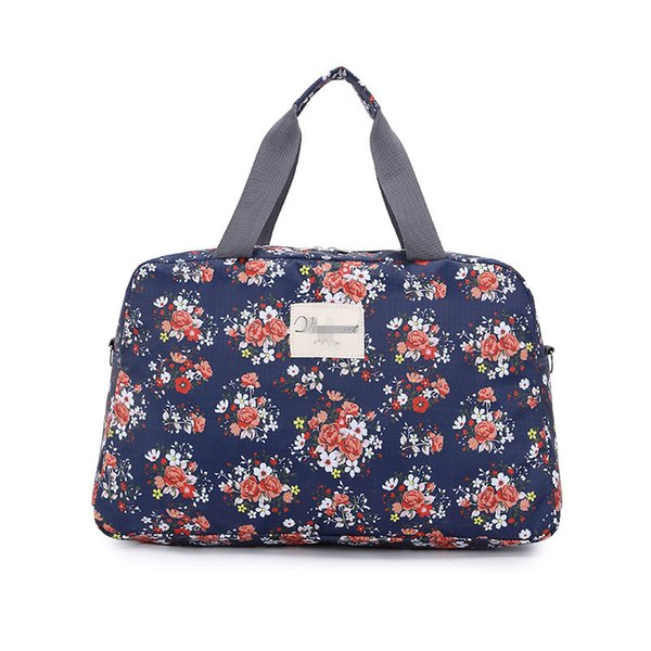 fashion foldable women's travel bags luggage handbag floral print casual women travel bag tote bags large capacity organizer