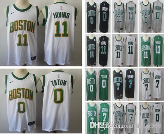 official photos 1d10b 25860 2018 2019 New City Edition Boston Celtics Irving Jersey 20 Gordon Hayward 0  Jayson Tatum 11 Kyrie Irving 7 Jaylen Brown Basketball Jerseys From ...