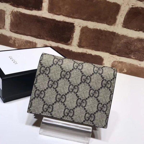 Superiore di lusso di disegno della celebrità lettera di goffratura ricamo Gog capo a due Fold Wallet pelle Tela 506.277 borsa corto frizione
