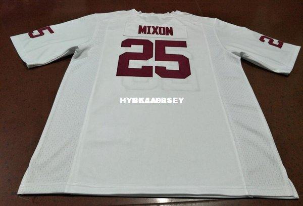 Günstige Men # 25 Joe Mixon Rot Weiß Oklahoma Sooners Alumni College-Jersey oder benutzerdefinierte beliebige Namen oder Nummer Jersey