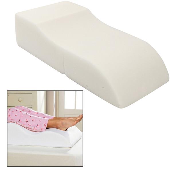 S Shape Sponge Portable Travel Footrest Leg Raiser Pillow Plane Train Body Bed Foot Rest Relax Support Pillow Pad Massage Pillow C19041601