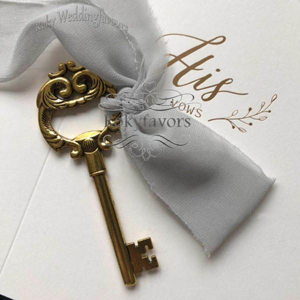 Benim Kalp Şişe Açıcı Vintage Rustik Anahtar Şarap Açıcı Düğün Favor Parti Eşantiyon Olay Keepsake DIY pantent Gelin Duş için 50PCS Anahtar