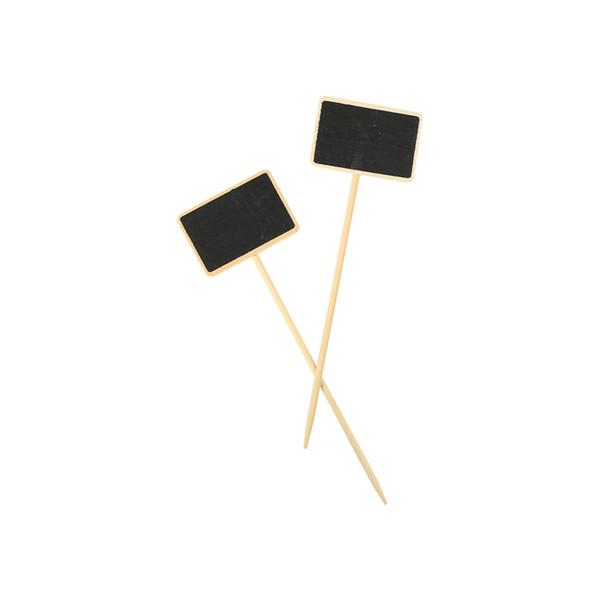 top popular Mini Blackboard Chalkboard Plug in Chalkboard Stand Price Memo Sign Letter Display Plate 2021