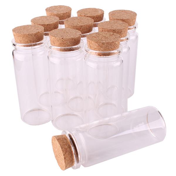 24 шт. 37 * 65 * 27 мм 65 мл Мини Стеклянные Бутылки Для Желания Крошечные Баночки Флаконы С Пробкой Пробка свадебный подарок
