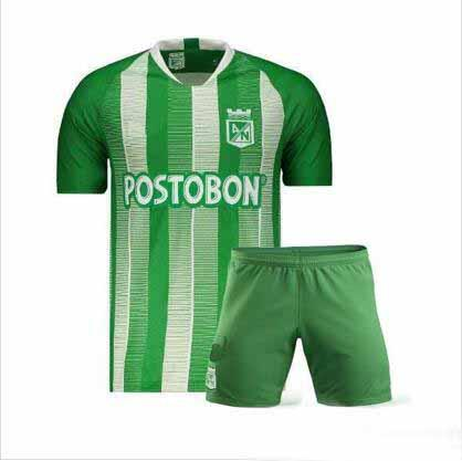 2019 2020 #7 david villa atletico nacional medellin kids soccer jersey h.barcos colombia club medellin green child football shirt, Black;yellow