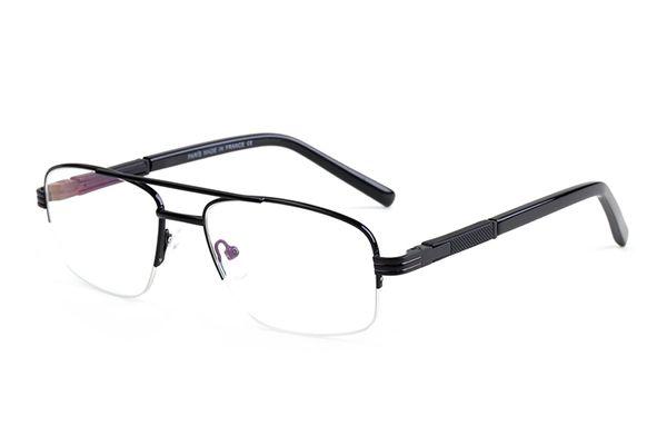 Vintage reading glasses Semi-Rimless Frame Double Bridge glasses Classic Brand Eyeglasses Coating Lens Eyewear For Men Women with box