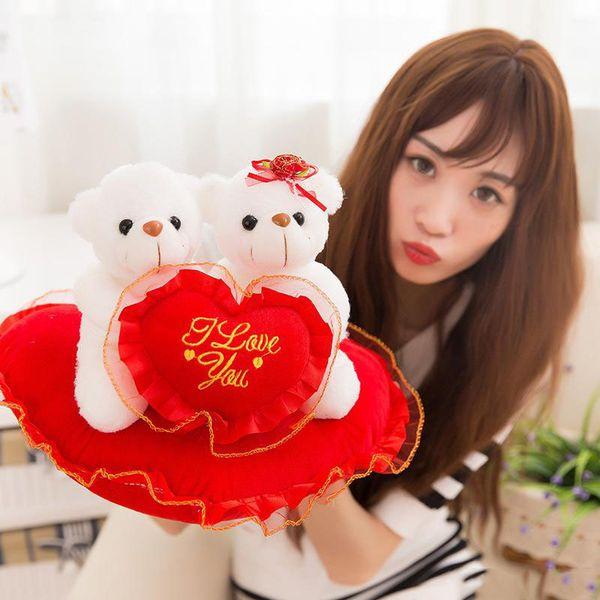 2018 Creative cute LOVE puppy LOVE teddy bear dolls stuffed animals toys valentine's day gift plush toys wholesale