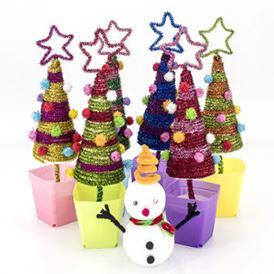Christmas Tree Toys Handmade.Hot Selling Christmas Gift Children Puzzle Handmade Material Package Kindergarten Creative Toys Diy Christmas Tree Wholesale Cool Toys For Christmas