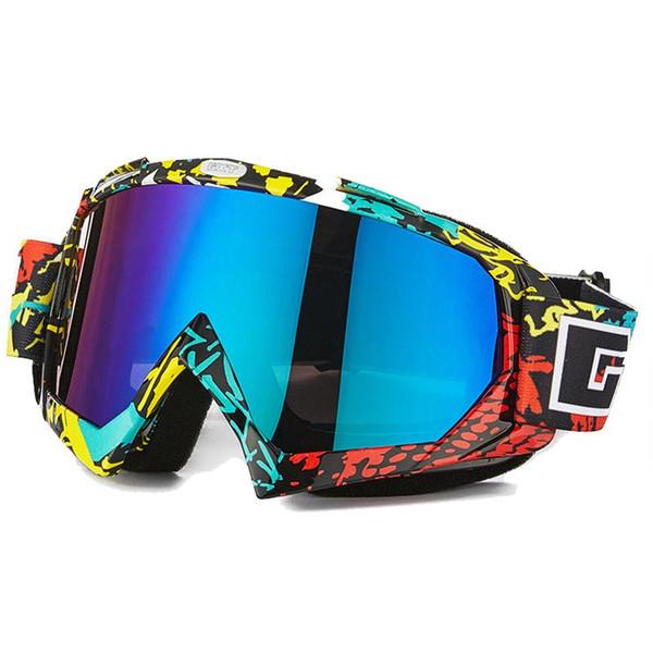 GXT Motocross Óculos de Proteção Da Motocicleta Óculos ATV MTB À Prova de Vento de Esqui Moto Moto Óculos De Vidro Da Bicicleta Da Sujeira Capacete Viseiras Lente