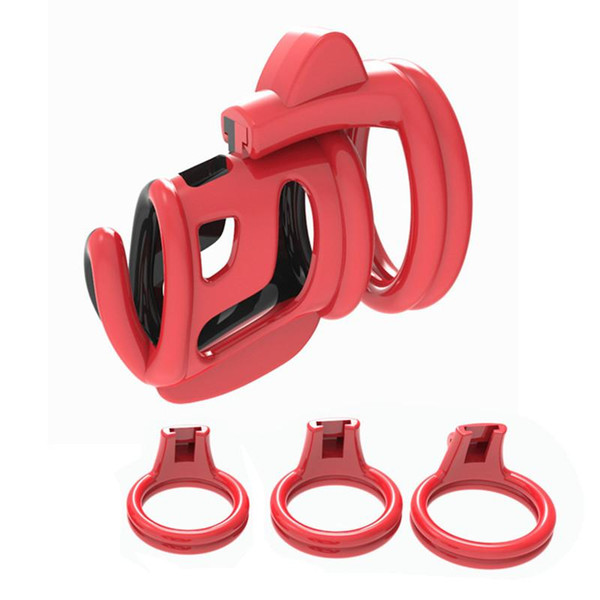 Newest Design Super Small Cock Cage Male Chastity Device Dick Penis Cages Anti-masturbation Sex Toys for Men Red-black White-Pink XCXQ227