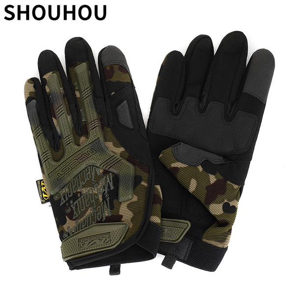SHOUHOU 2018 New Arrival Men Sports Gloves Fashion Full finger Tactical Gloves Male Anti-slip Gloves Riding Driving 422-2