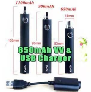 EVOD Preheat VV 650mAh Battery & USB